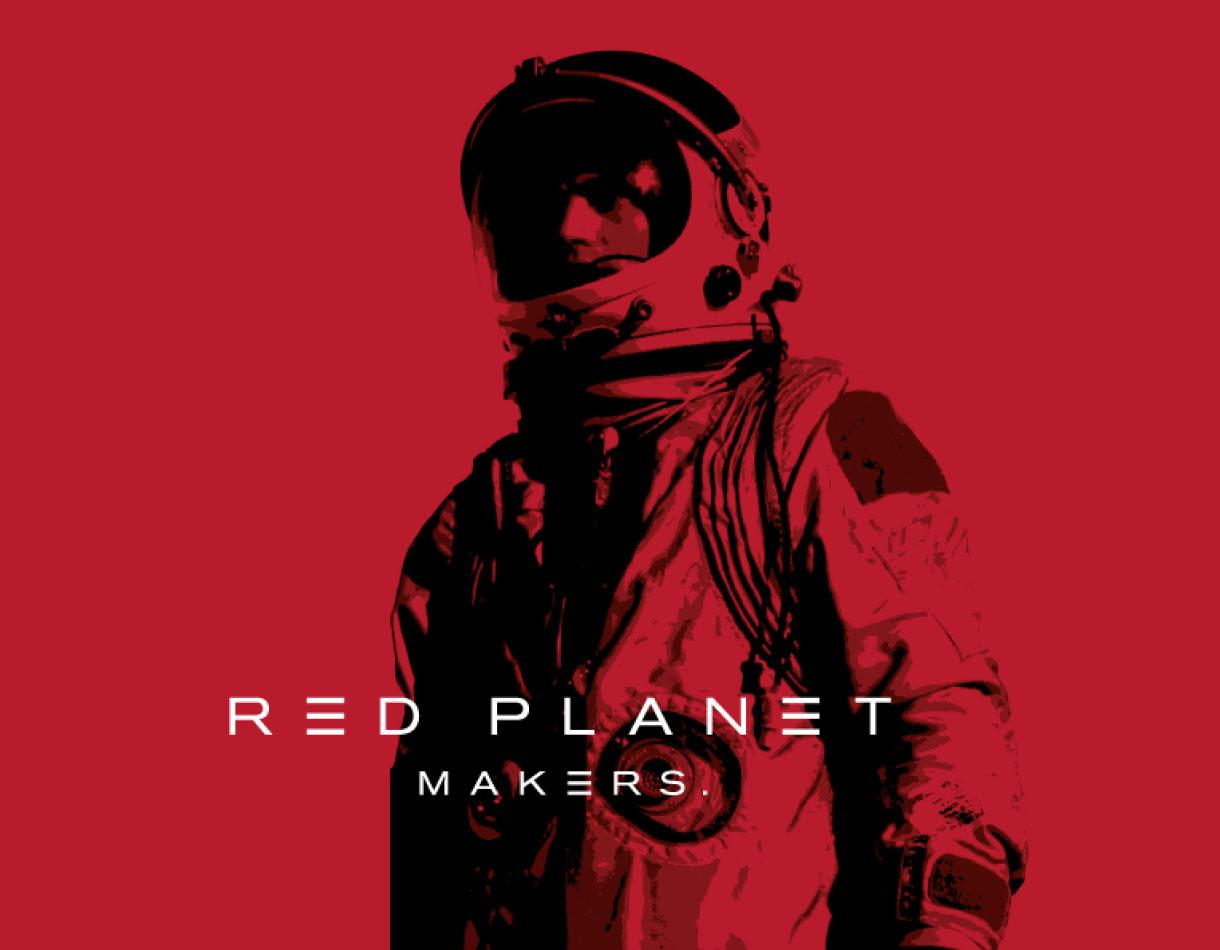 Principle brand agency Dublin Red Planet Branding Project astronaut